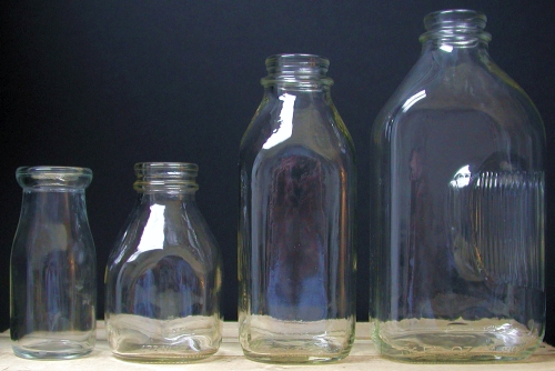 Glass Milk Bottles Bucket Outlet
