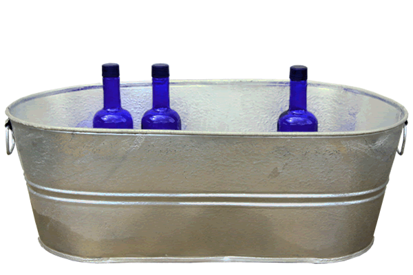 10.5 Gallon Galvanized Tub
