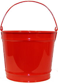 10Qt. Candy Apple Red Pail