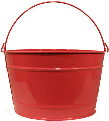 16Qt. Candy Apple Red Pail