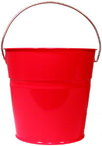 Candy Apple Red Pail