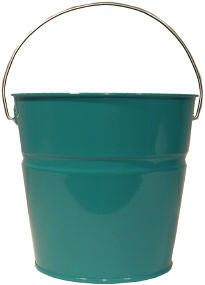 galvanized teal bucket