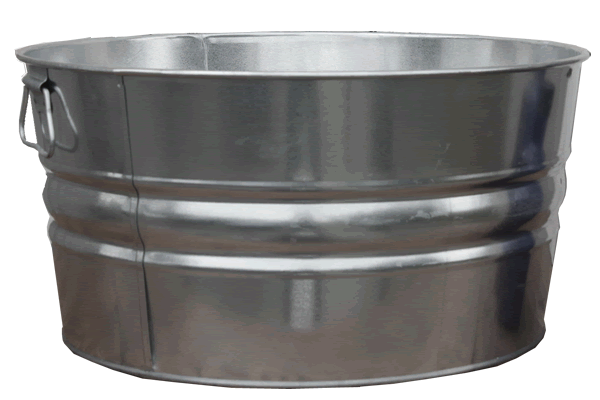 15 Gallon Galvanized Tub