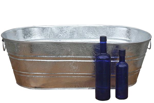 16 Gallon Galvanized Tub Vintage Tub Bucket Outlet