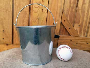 3 Quart Smooth Sided Metal Bucket