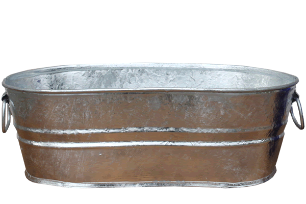 3.7 Gallon Galvanized Tub