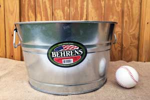 5 Gallon Galvanized Steel Tub