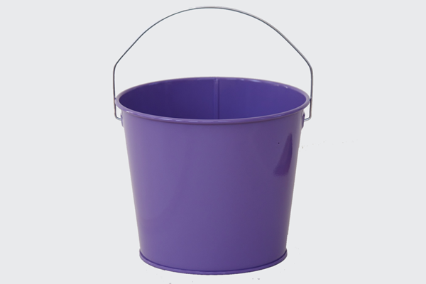 purple easter pail