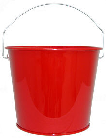 5Qt. Candy Apple Red Pail