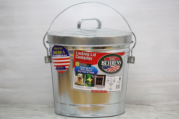 6 Gallon Galvanized Trash Can