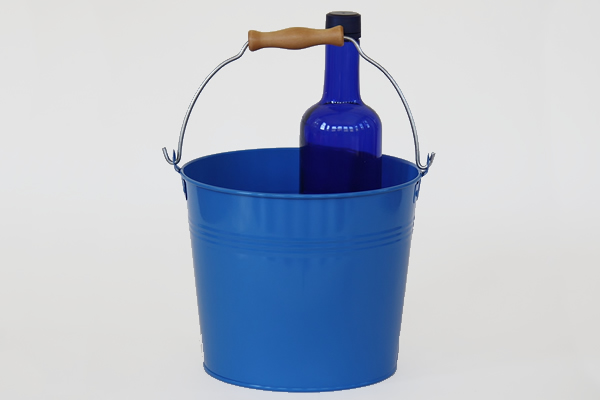 Wooden Handle Blue Pails