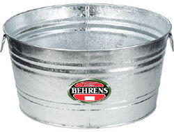 11 Gallon Hot Dipped Round Wash Tub