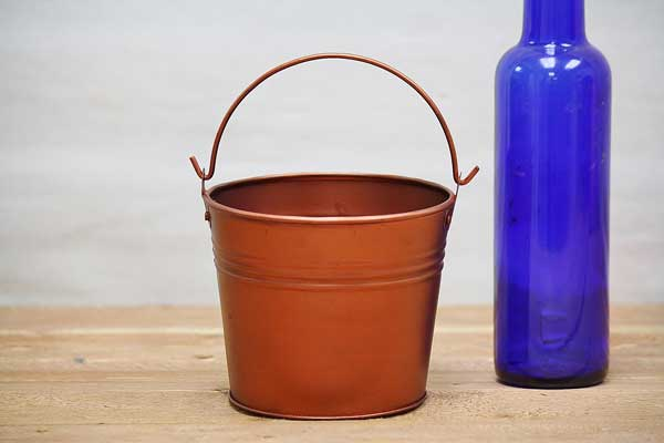 Small Metal Flower Bucket