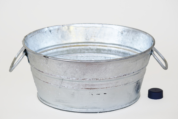 1.5 Gallon Galvanized Pan