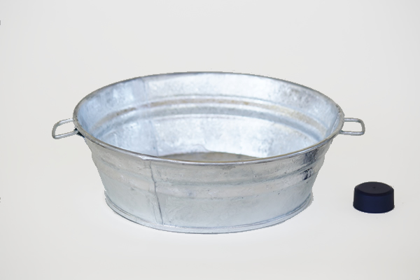 2 Quart Galvanized Pan