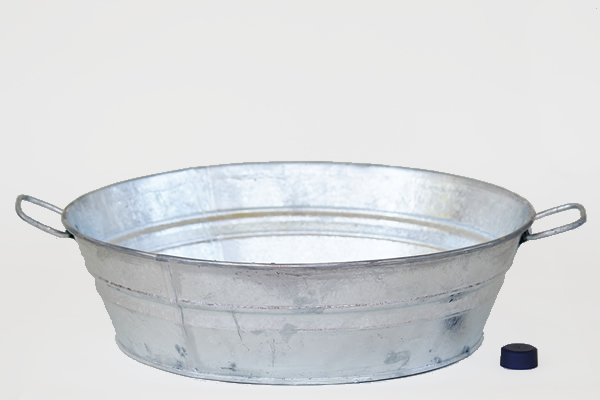 3 Gallon Galvanized Pan