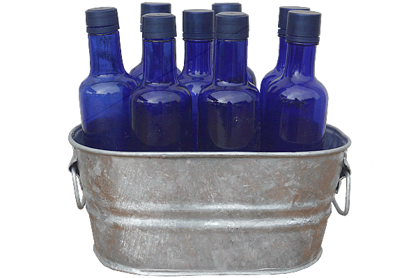 1 Gallon Galvanized Tub