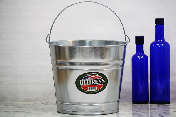 10 Galvanized Metal Buckets