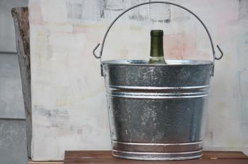 10 Quart Hot Dipped Bucket Steel Bucket Bucket Outlet