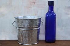 2 Quart Hot Dipped Bucket with side mounted handle