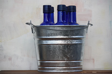5 Quart Hot Dipped Steel Bucket