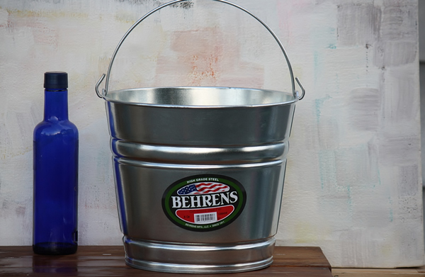 8 Quart Galvanized Bucket Steel Bucket Bucket Outlet