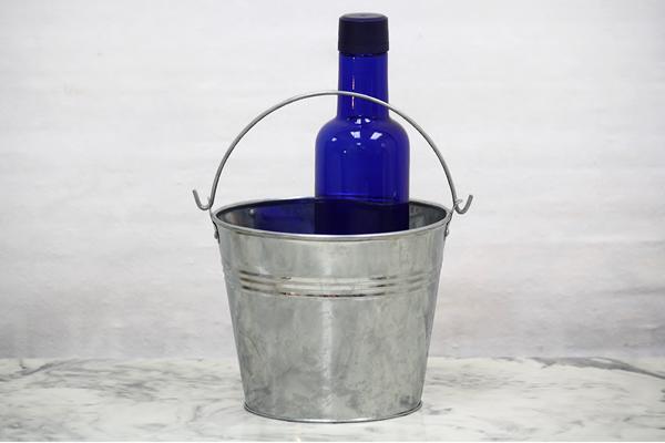 Galvanized Flower Bucket Vintage Flower Bucket Bucket