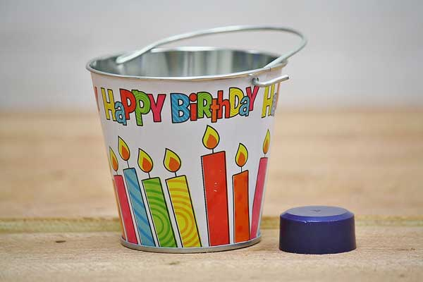 Happy Birthday Party Favor Pail