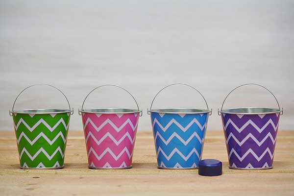 Metal Beach Party Pails