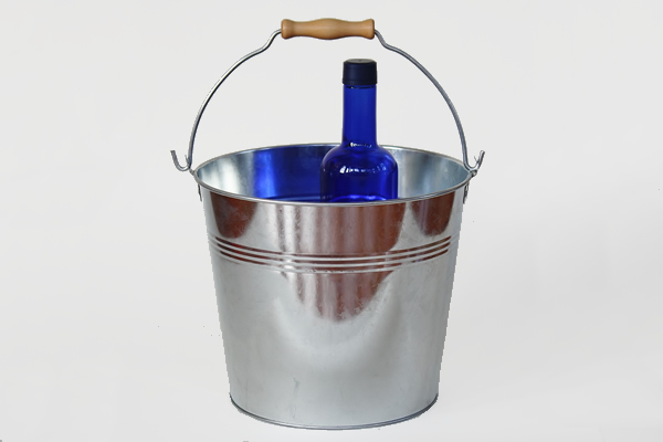 galvanized metal vintage bucket