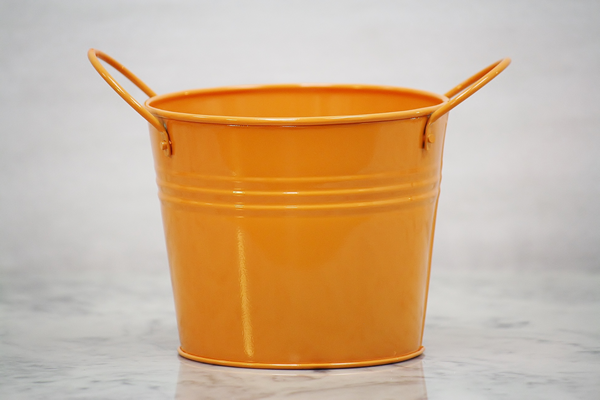 Orange Metal Pail