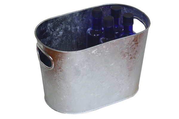 Small Oval Galvanized Tub