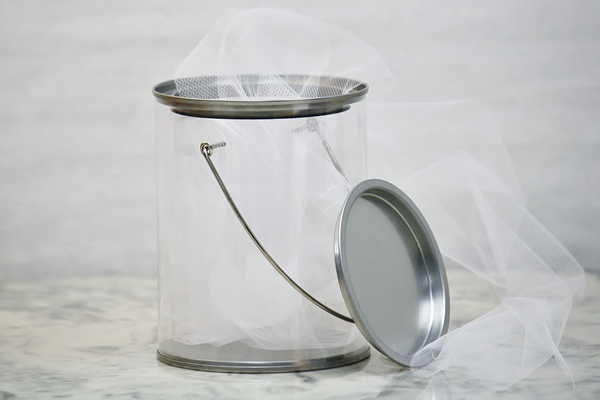 Clear Paint Can Gift Pail