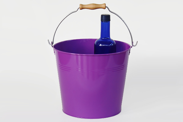 purple metal bucket
