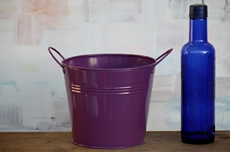 Purple Tin Centerpiece Bucket