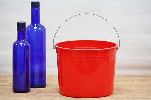 Paint Bucket Red Plastic Pail Bucket Outlet