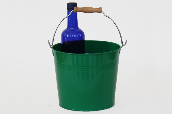 Wooden Handle Forest Green Pails