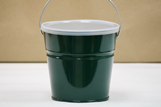 Dark Green Bucket With Lid