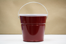Maroon Bucket With Lid