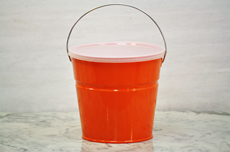 Orange Bucket With Lid