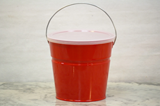 Red Bucket With Lid