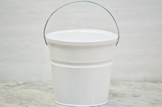 White Bucket With Lid