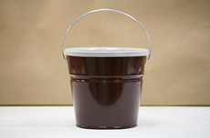 Brown Bucket With Lid
