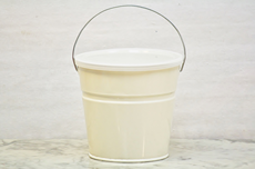 Beige Bucket With Lid