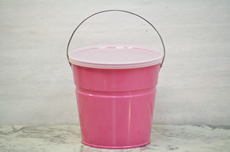 Pink Bucket With Lid