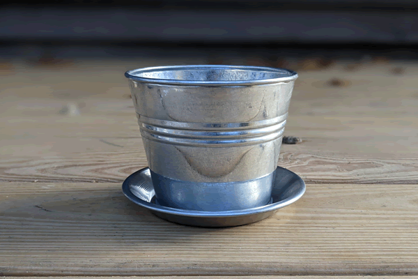 Small Metal Bucket Planter