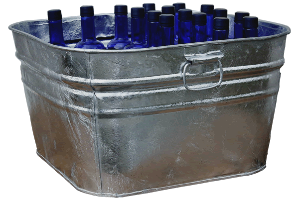 Galvanized Square Tub