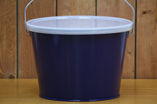 Navy Blue Bucket With Lid