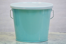 Turquoise Bucket With Lid