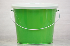 Metal Buckets With Lids Available In 16 Different Colors